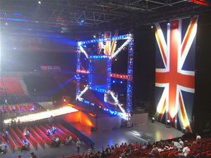 The Titantron in the NIA, Birmingaham