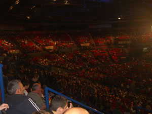 The arena filling up about 30 mins before the start of the Heat recording